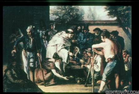 XXIII. Pintura del Siglo XIX  La Sopa Boba. Leonardo Alenza (Madrid. Museo Lazaro Galdiano)